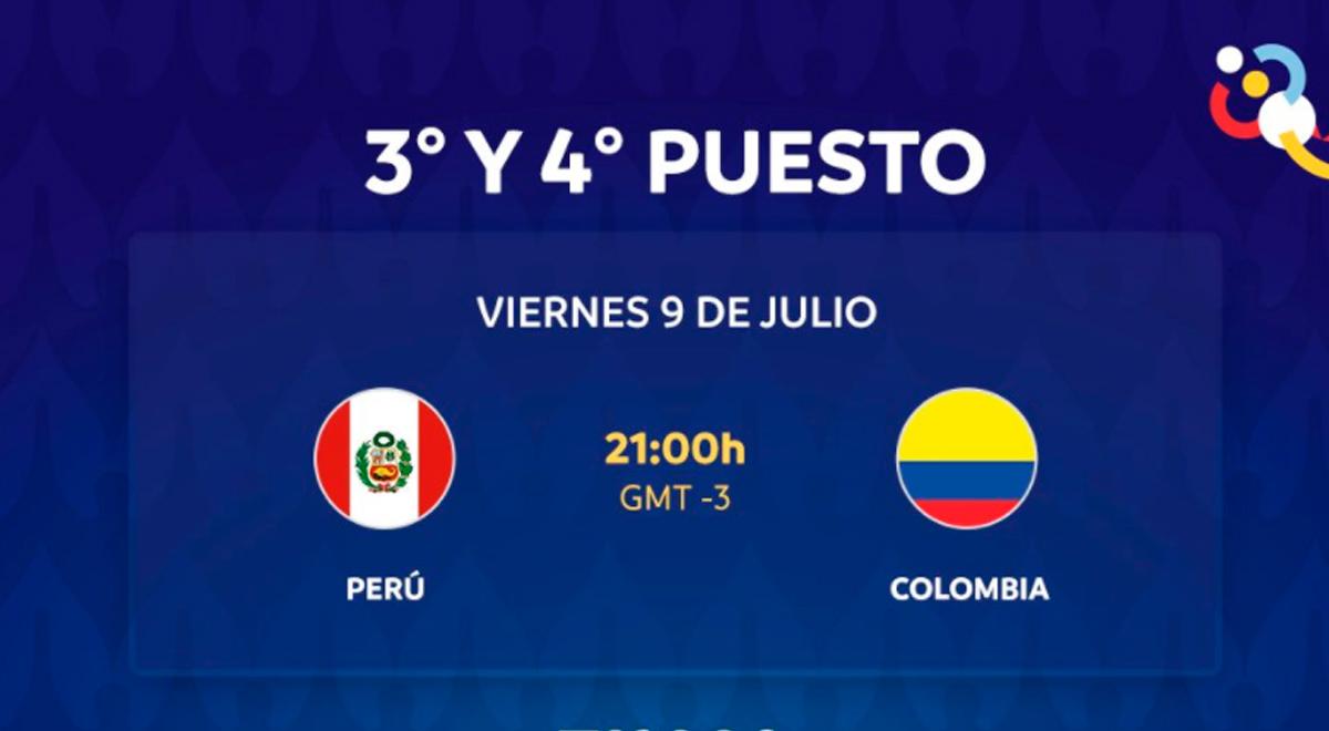 TRANSMISIÓN EN VIVO Perú vs. Colombia por el tercer lugar ...
