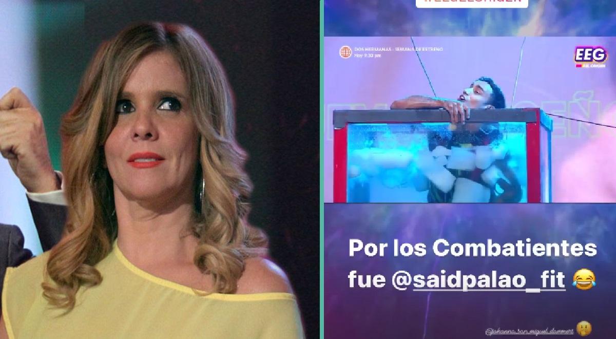 "Johanna San Miguel se enojó con Said Palao e hizo petición en EEG: ""Métanlo al agua"""