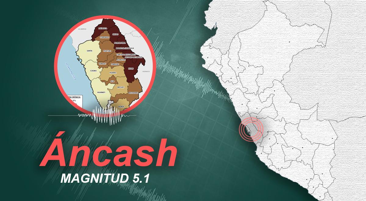 Sismo de magnitud 5.1 sacudió Áncash la noche de este viernes, según IGP