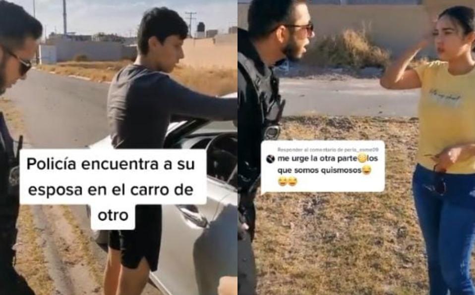 Policía confunde a su esposa y le reprocha infidelidad a desconocida [VIDEO]