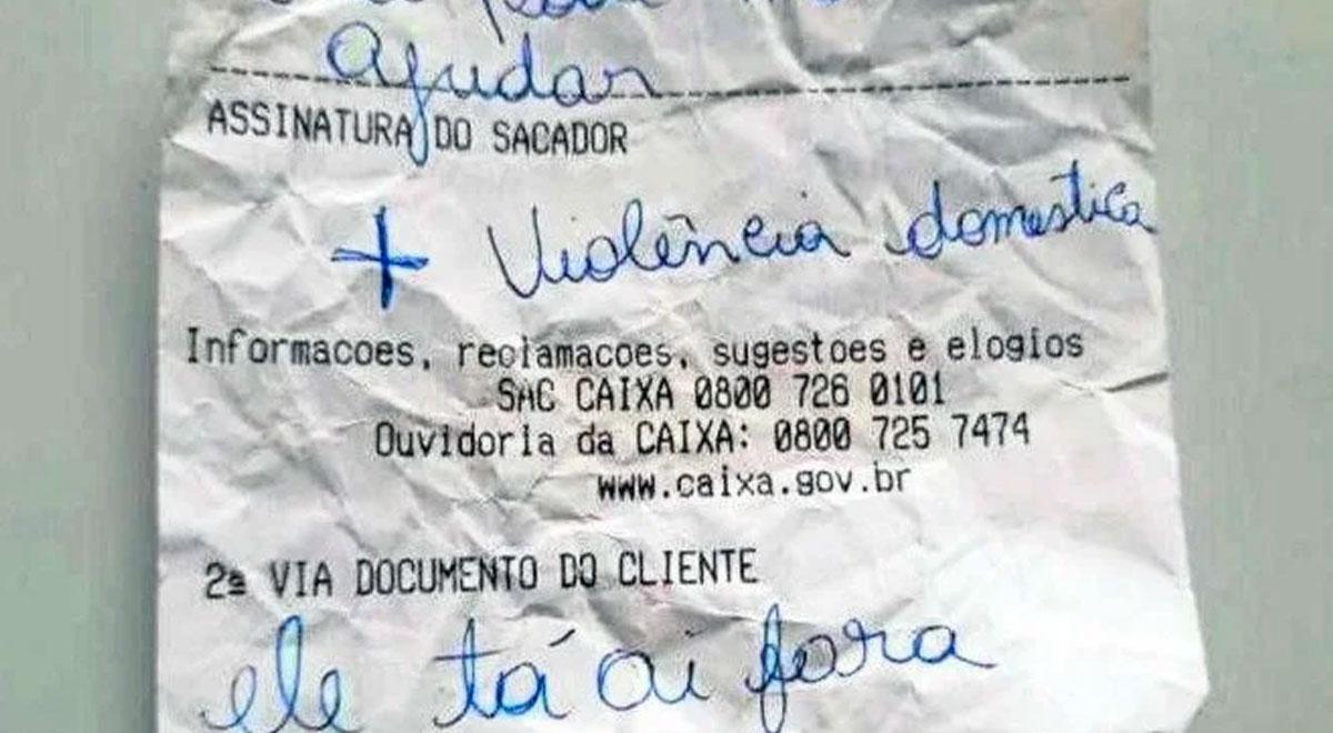 Brasil: Trabajador de un banco pudo ayudar a una mujer que sufría maltrato gracias a un mensaje