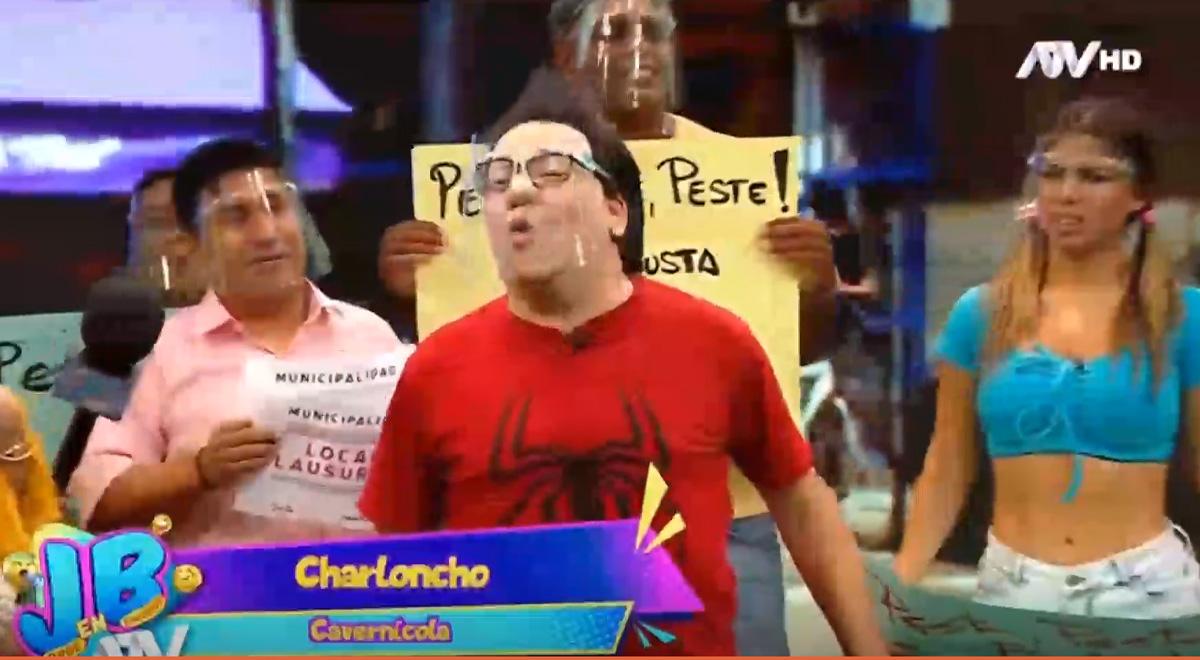 Carloncho fue parodiado en programa 'JB en ATV' y lo tildan de cavernícola [VIDEO]