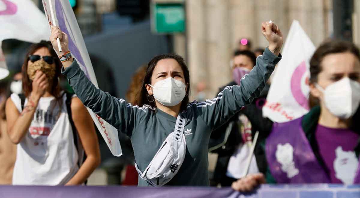 Día de la Mujer: Manifestaciones en España para expresar su voz de lucha [VIDEO]