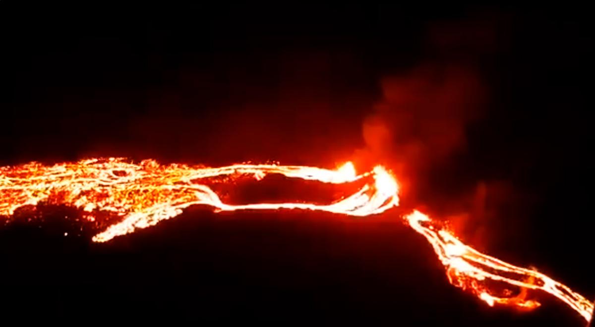 Impactantes imágenes revelan la gran erupción del volcán en Islandia