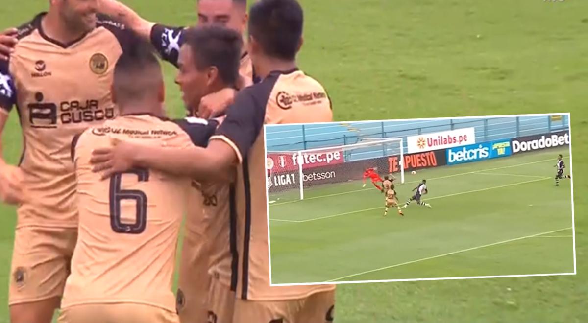 ¡Alianza Lima está cayendo! Sandro Rengifo puso el 2-1 para Cusco FC con gran ejecución [VIDEO]