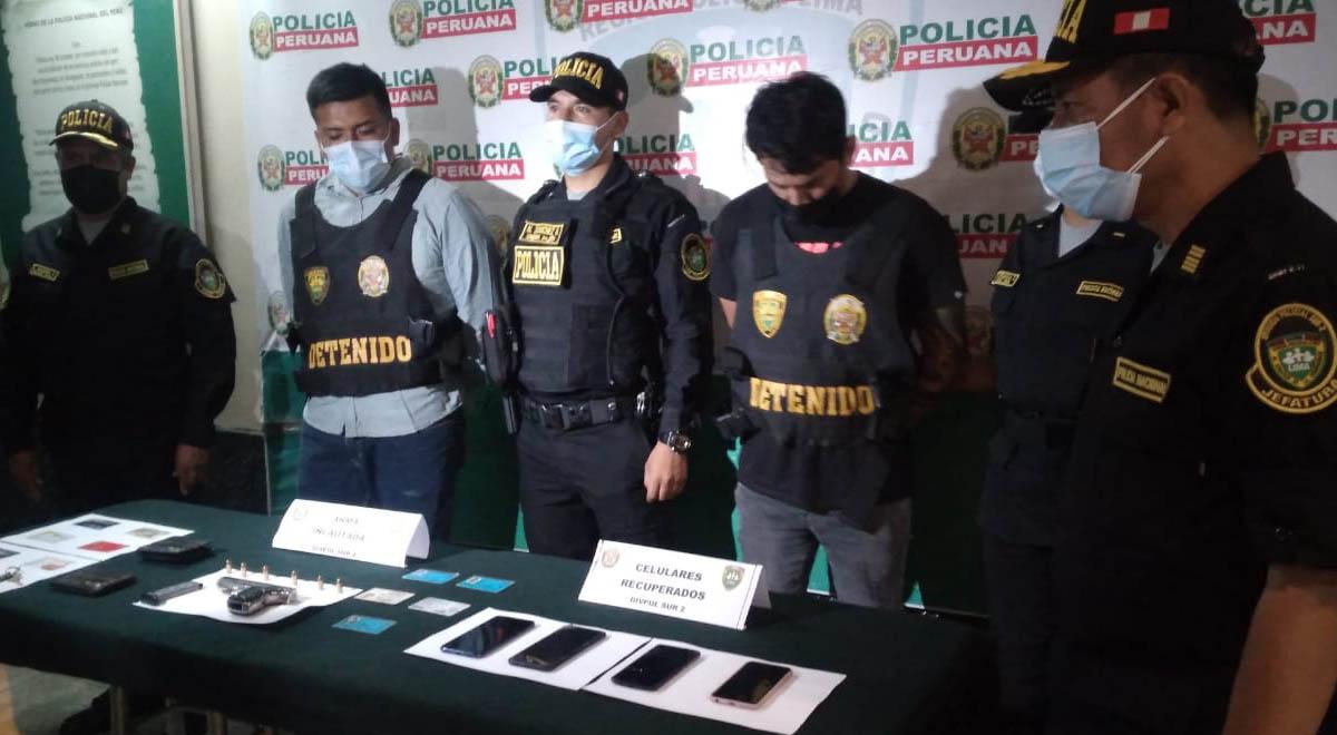 PNP detiene a raqueteros dedicados a robar celulares en Barranco y Chorrillos