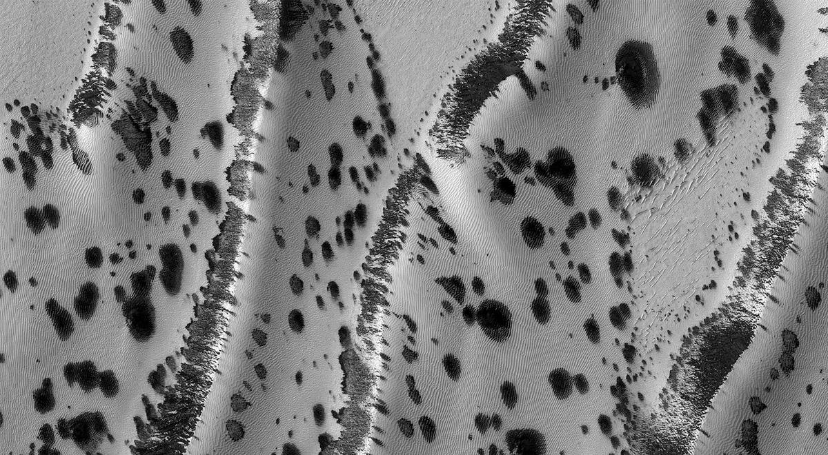 NASA asombra al mundo con espectacular foto de dunas dálmatas de Marte