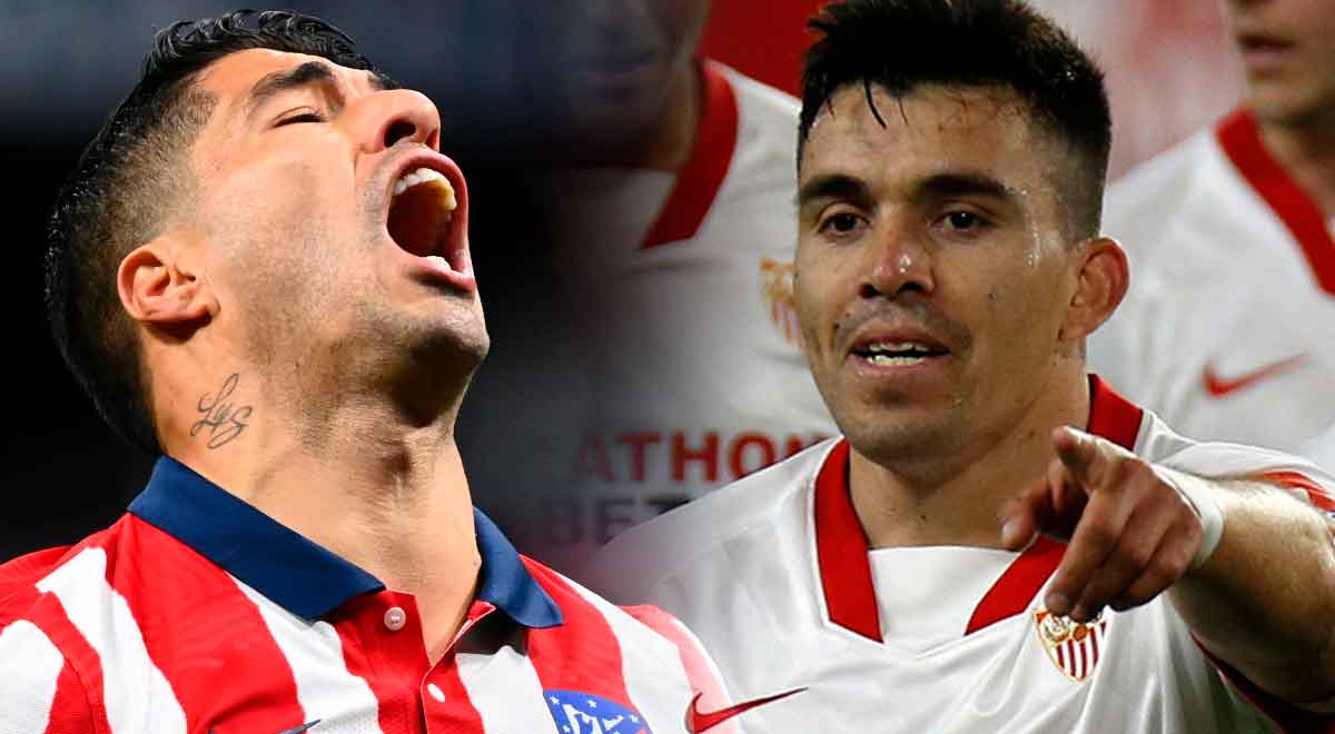 Atlético de Madrid deja escapar la punta: perdió 1-0 ante Sevilla con cabezazo del 'Huevo' Acuña