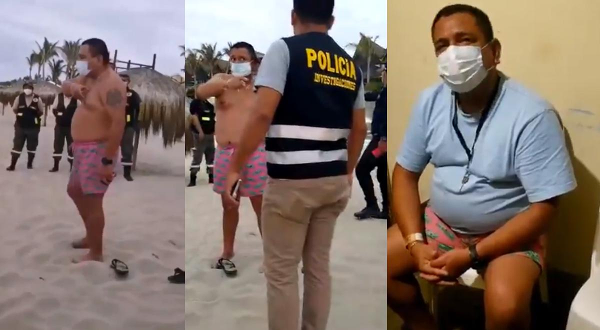 Hombre se hace pasar por mayor de la PNP para evitar intervención en playa de Piura [VIDEO]