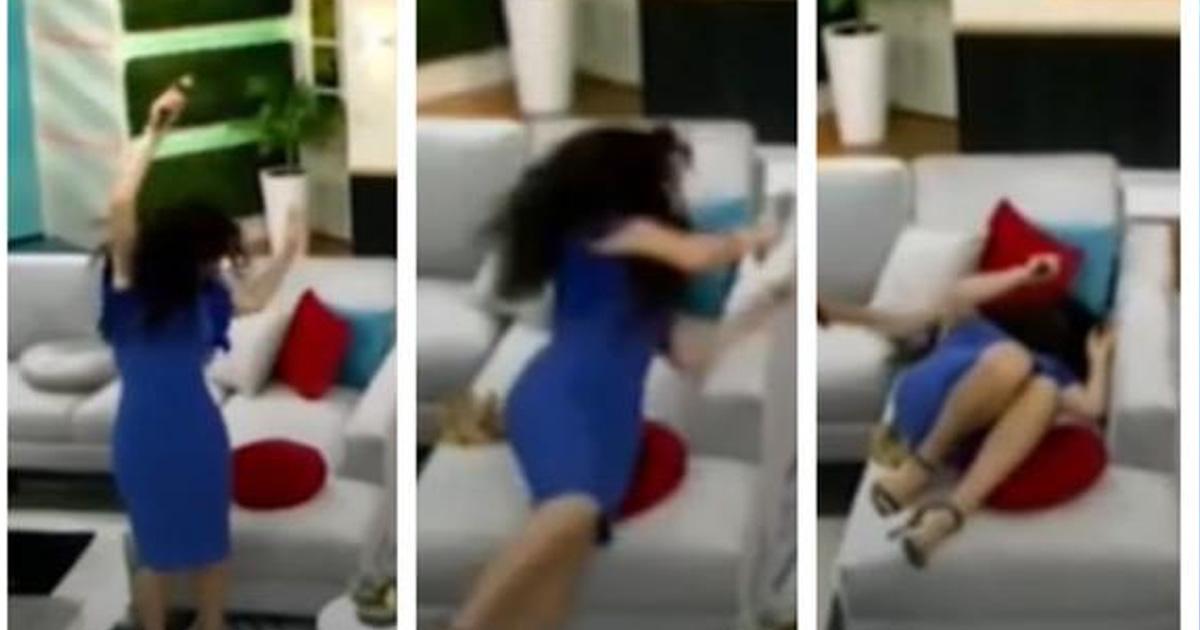 """Janet Barboza sufre aparatosa caída durante su conducción en """"América Hoy"""" [VIDEO]"""
