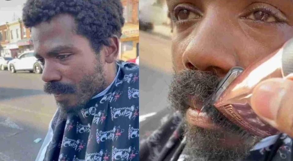 TikTok: Barbero le hace un cambio de look a una persona sin hogar y el resultado sorprende a miles