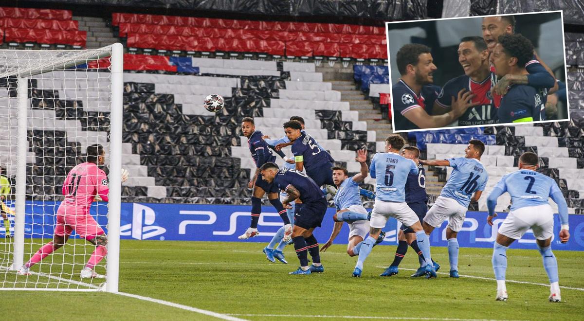 ¡Gol sudamericano! Di María combina con Marquinhos para el 1-0 de PSG al Manchester City [VIDEO]