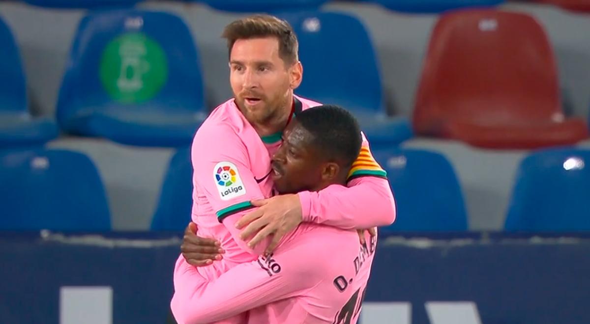 En primera: Lionel Messi y su golazo de bolea que pone al Barcelona puntero en LaLiga