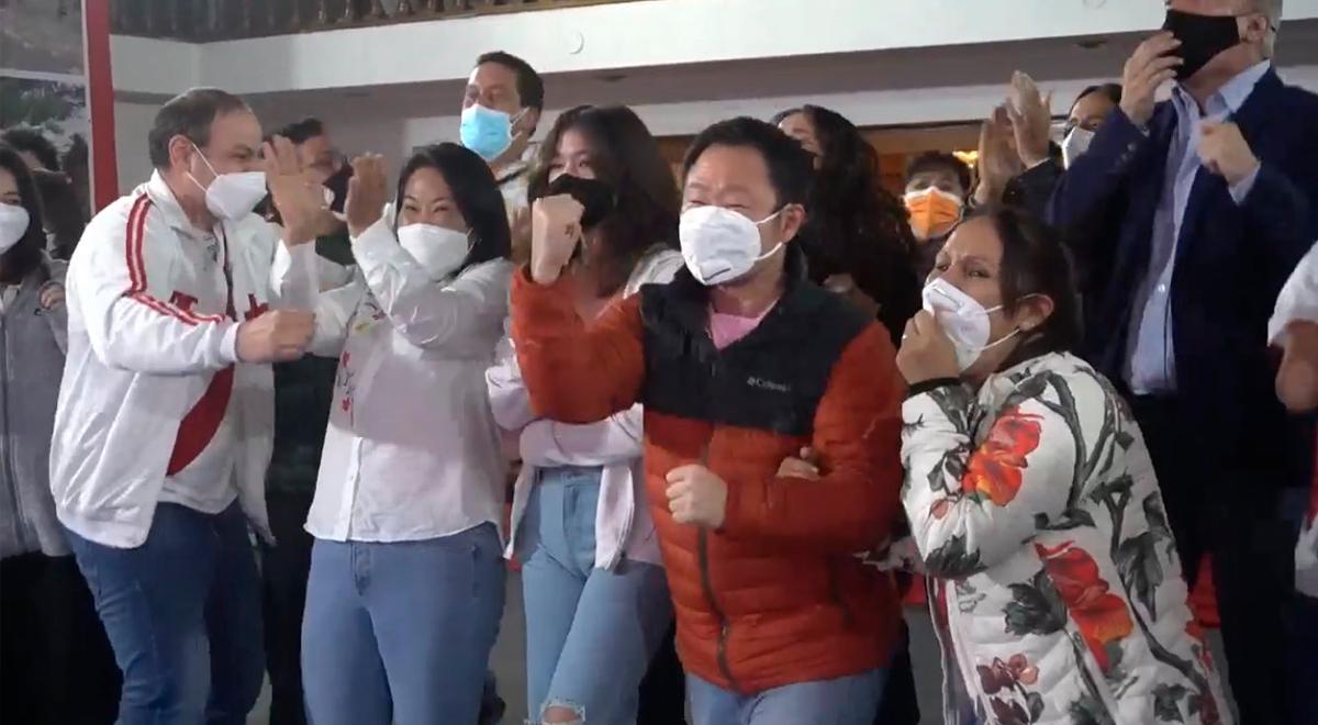 Elecciones 2021: Así fue la reacción de Keiko Fujimori al conocer resultados a boca de urna del Flash Electoral