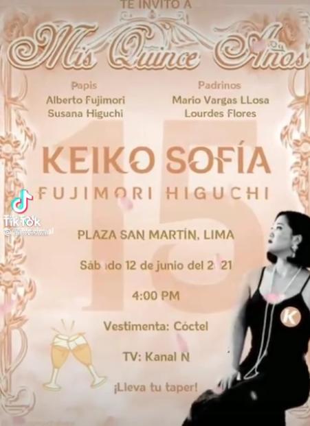 Difunden video en donde se invita a participar del kino de Keiko Fujimori