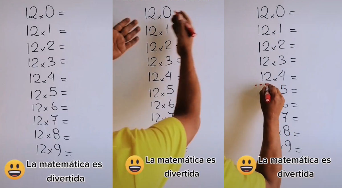 TikTok viral: Profesor sorprende revelando sencillo truco de la tabla del 12 en 15 segundos [VIDEO]