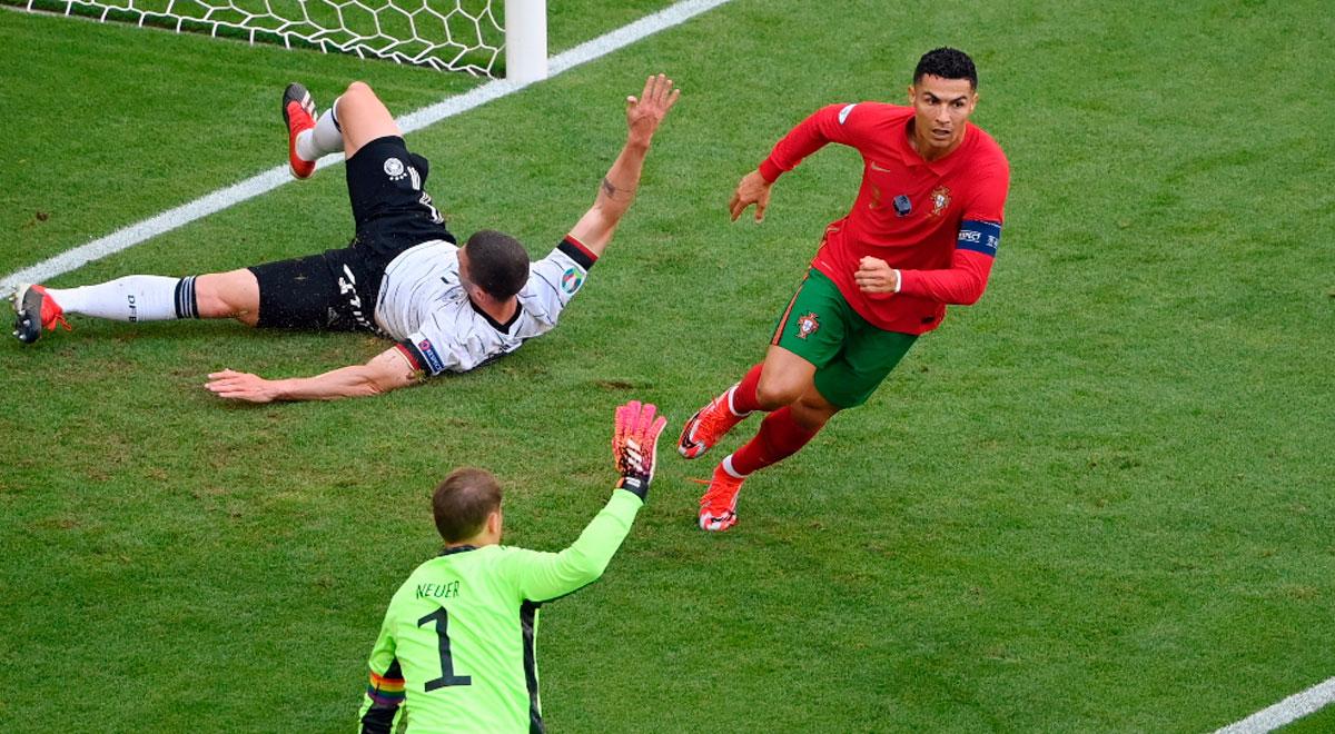 Cristiano Ronaldo abrió la cuenta en el Portugal vs. Alemania por la fecha 2 de Eurocopa 2021