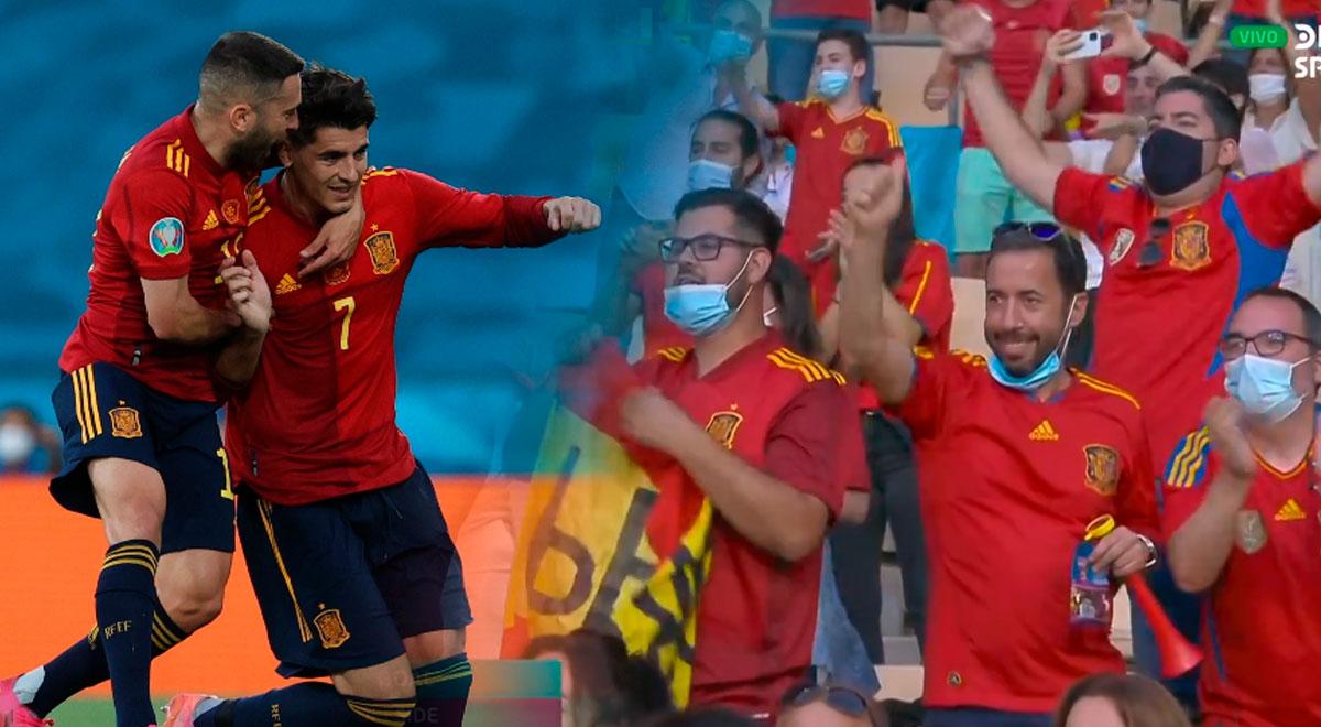 Lo gritaron con suspenso: España, con gol de Morata, vence a Polonia en la Eurocopa 2021