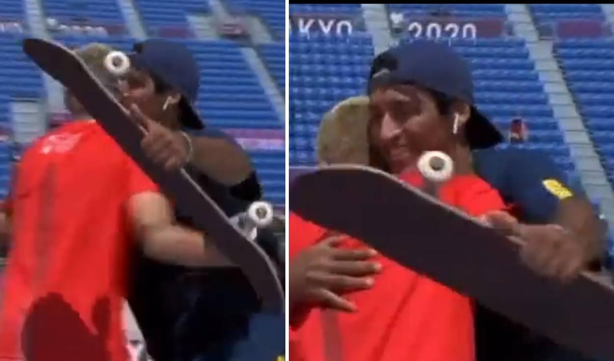 El emotivo abrazo de felicitación de Angelo Caro a su rival en Tokio 2020 se hace viral