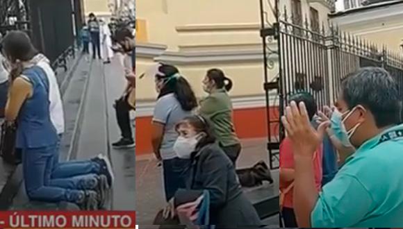 Sismo en Piura: ciudadanos entraron en pánico y se arrodillaron para rezar afuera de la Catedral