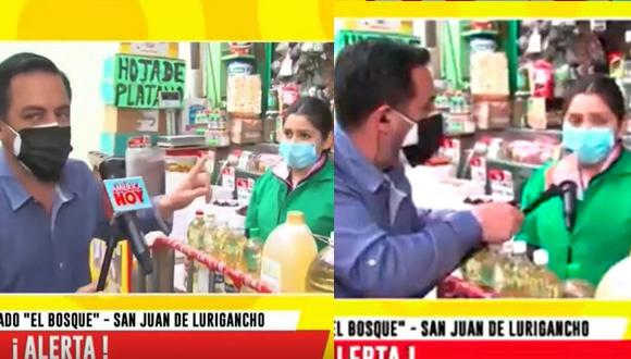 """Periodista asegura que los precios han subido, pero vendedora lo desmiente en vivo: """"Son especulaciones"""""""