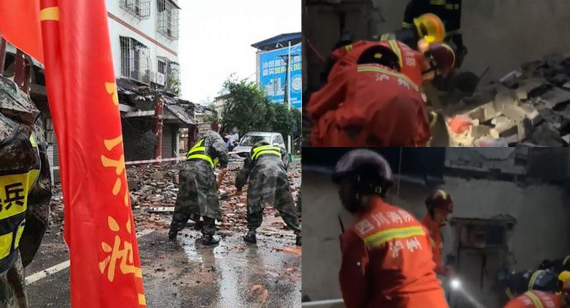 Rescatistas luchan por encontrar sobrevivientes tras fuerte terremoto en China