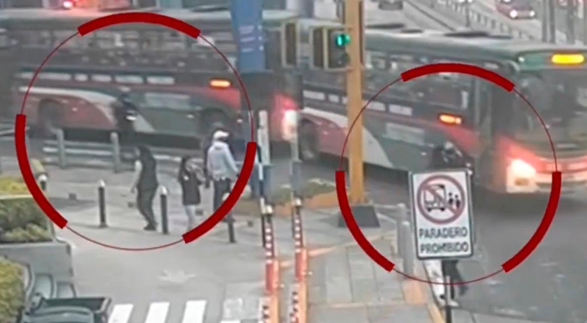 Miraflores: Momento exacto en que bus Chama arrolla joven que paseaba con su scooter [VIDEO]