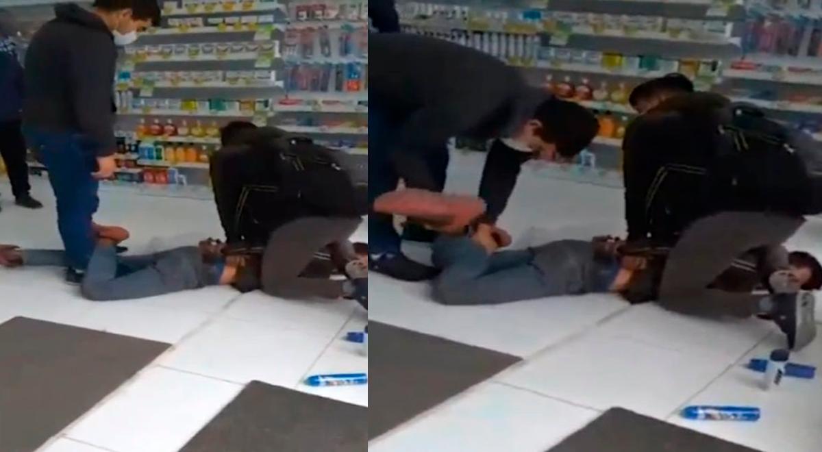 Los Olivos: Delincuente entra a robar a farmacia, pero es detenido por clientes