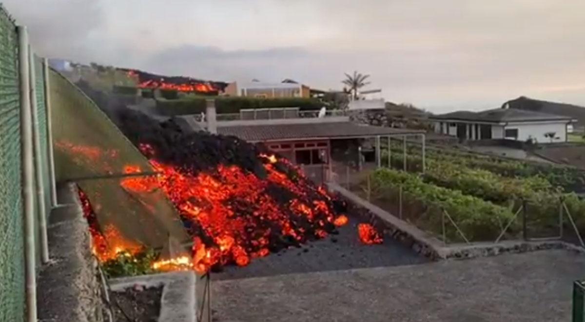 Volcán erupciona en islas Canarias: así avanzó la lava hacia viviendas de La Palma [VIDEO]