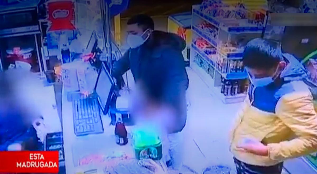 Delincuentes estafan con 600 soles falsos a trabajador de un minimarket [VIDEO]