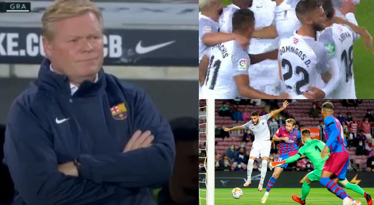 Barcelona se cae a pedazos: Granada lo 'madrugó' y Luis Abram celebró así el gol [VIDEO]