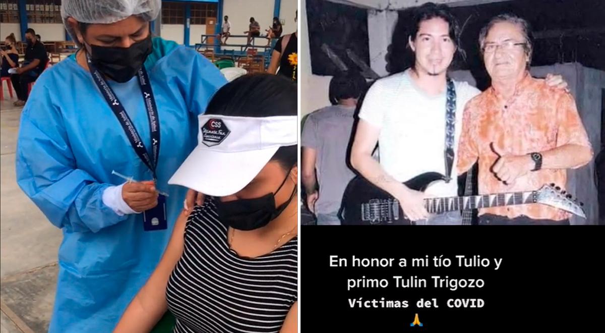 Familiar del fundador de Sonido 2000 se vacuna y le rinde homenaje en emotivo TikTok