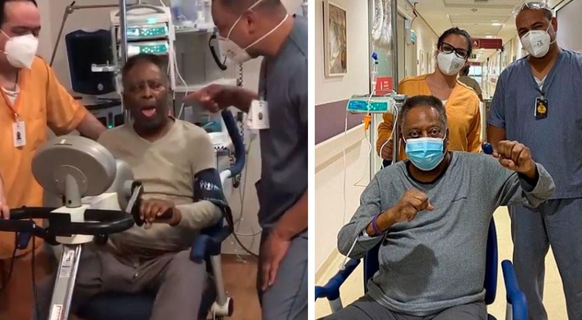 """Pelé comparte parte de su terapia para su recuperación: """"Para sentirme un poquito mejor"""""""