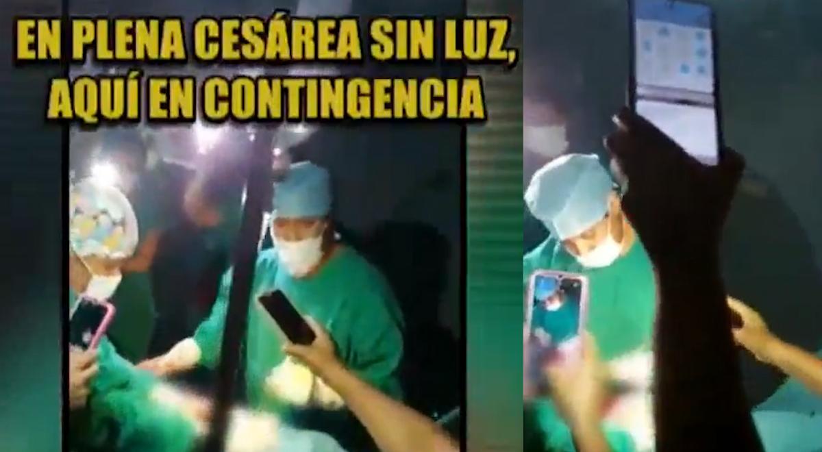 Tingo María: médicos atienden parto usando luz de sus celulares tras falta de energía eléctrica