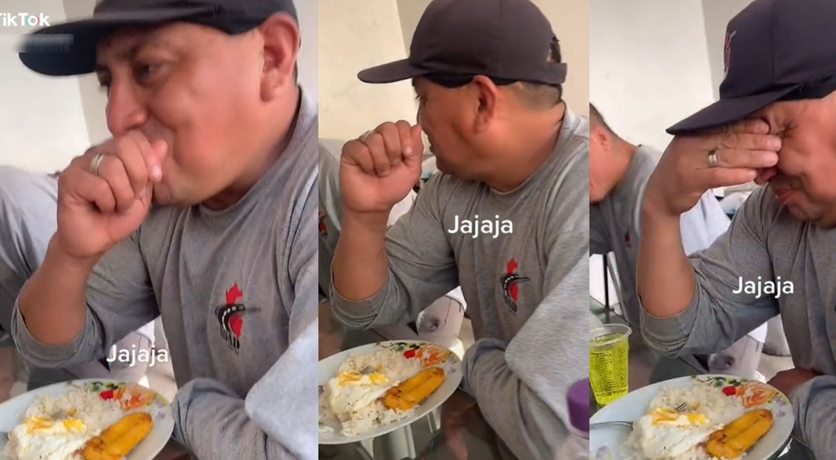 """Interrumpe almuerzo cantándole """"corre, corre, corazón"""" y reacción del obrero es viral [VIDEO]"""