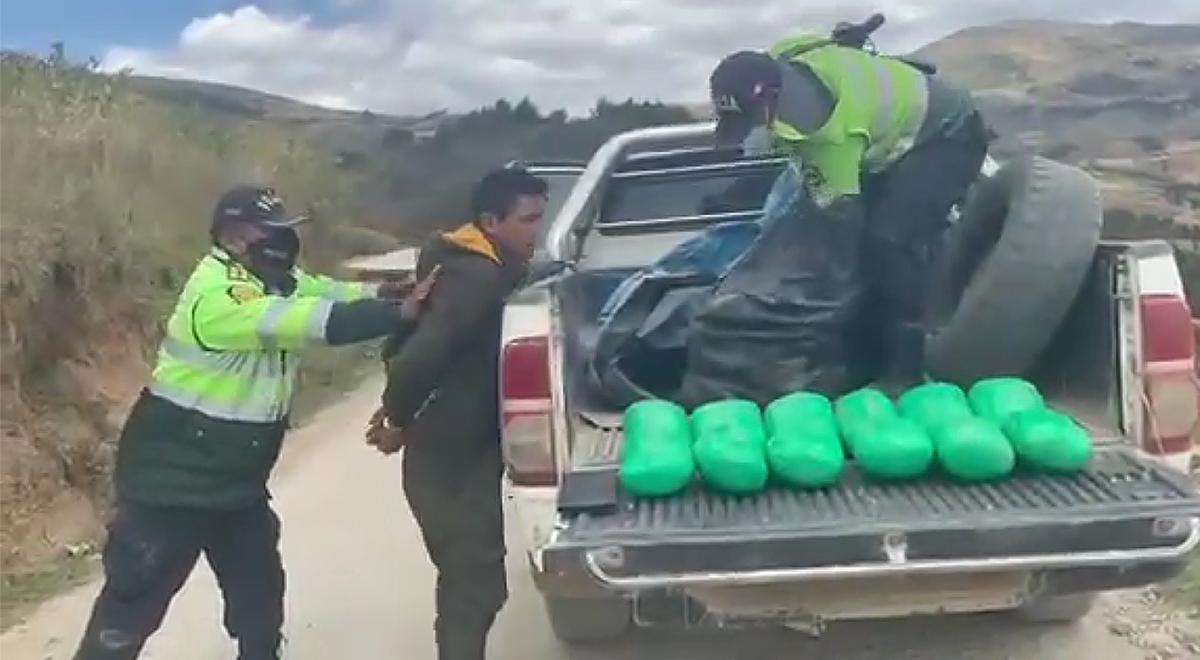 Libertad: PNP incauta 16 kilos de marihuana en tolva de camioneta