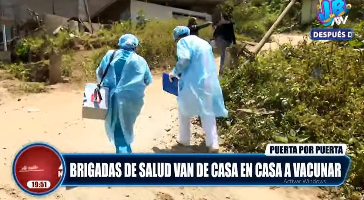 COVID-19: brigadas de salud van de casa en casa a vacunar [VIDEO]