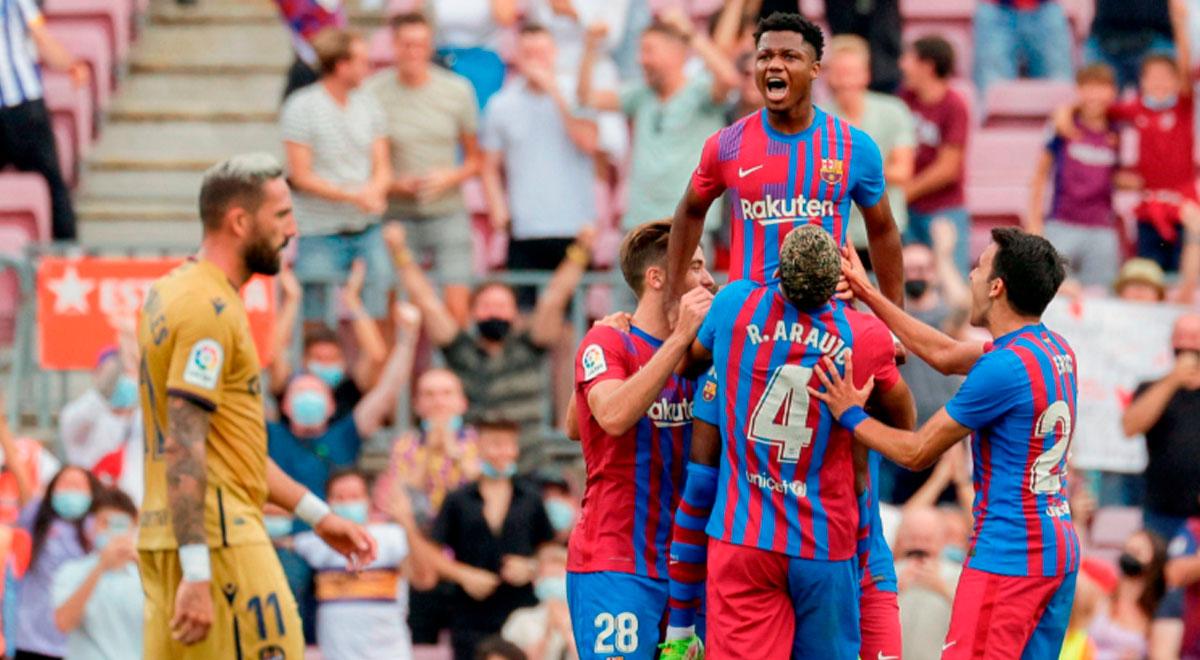 Ansu Fati selló la goleada del Barcelona ante Levante por la fecha 7 de LaLiga de España
