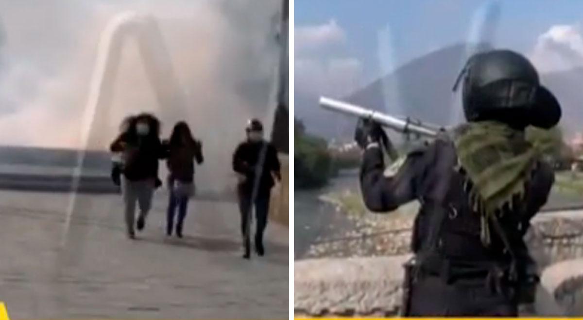 Huánuco: PNP dispersa con bombas lacrimógenas a población que pide salida del gobernador