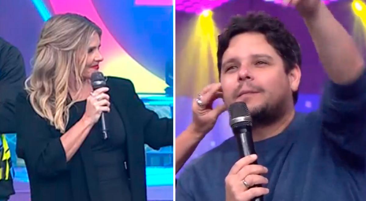 """Johanna San Miguel llenó de cariños a Gian Piero Díaz por su cumpleaños: """"Carita de bebé"""" [VIDEO]"""