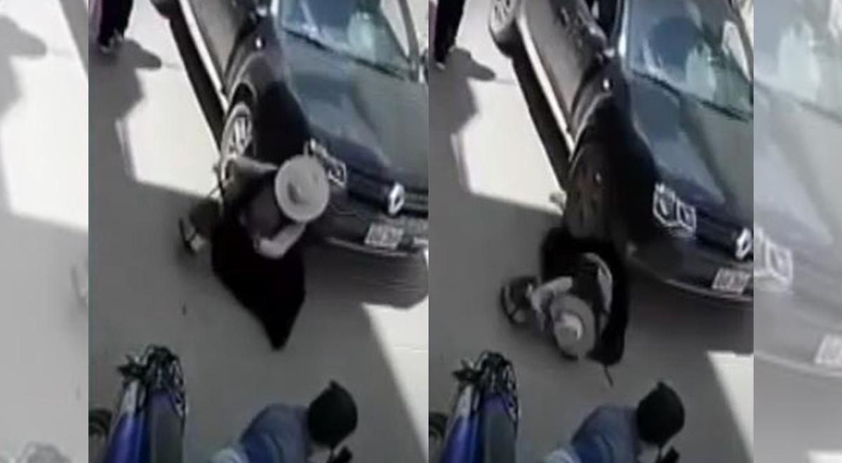 Juliaca: Mujer que caminaba por la pista sobrevive tras ser arrollada por una vehículo [VIDEO]