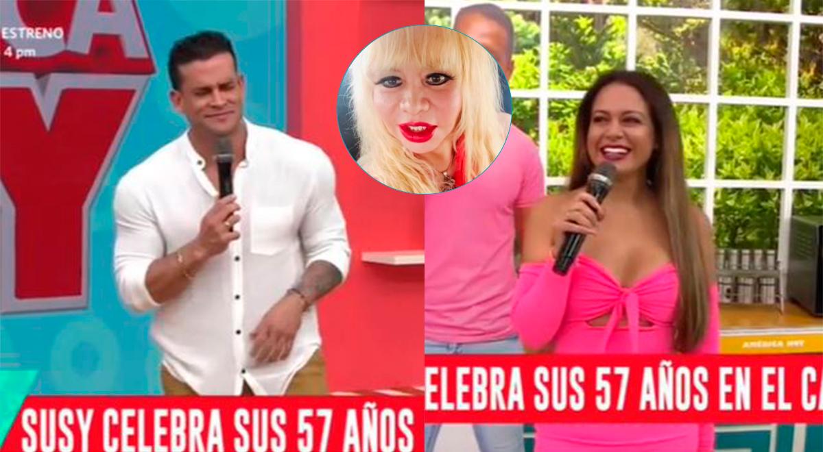 "Christian Domínguez confunde onomástico de Susy Díaz: ""Feliz cumpleaños Florcita"" [VIDEO]"