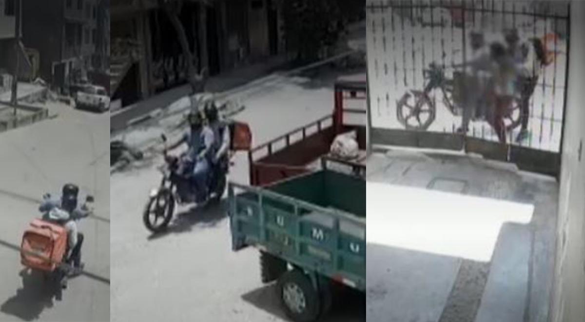 El Agustino: Falsos deliverys roban celular a adolescente que llegaba a su casa del mercado [VIDEO]