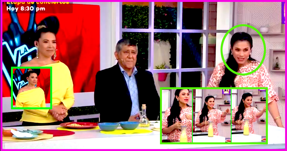 Maricarmen Marín tuvo curiosa reacción con integrante de su producción que estaba distraída [VIDEO]