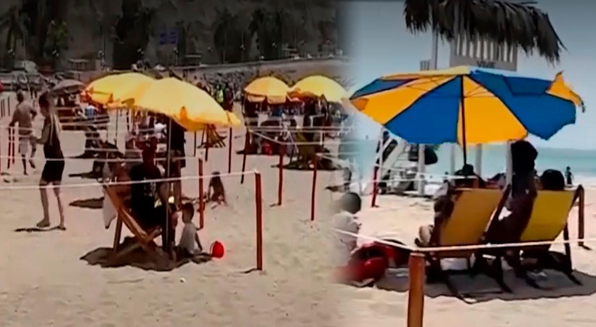 """Chorrillos: ciudadanos disfrutan de la playa agua dulce en """"boxes"""" [VIDEO]"""