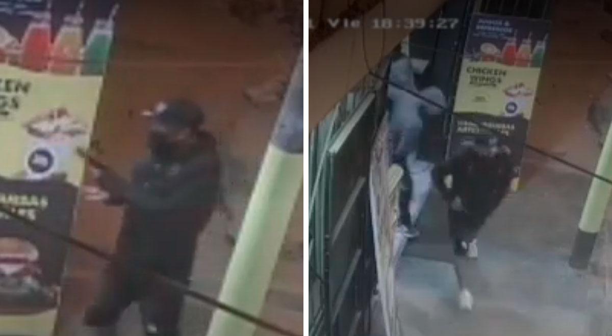¡En solo 10 segundos!: delincuentes asaltan a clientes de restaurante ubicado en SJL