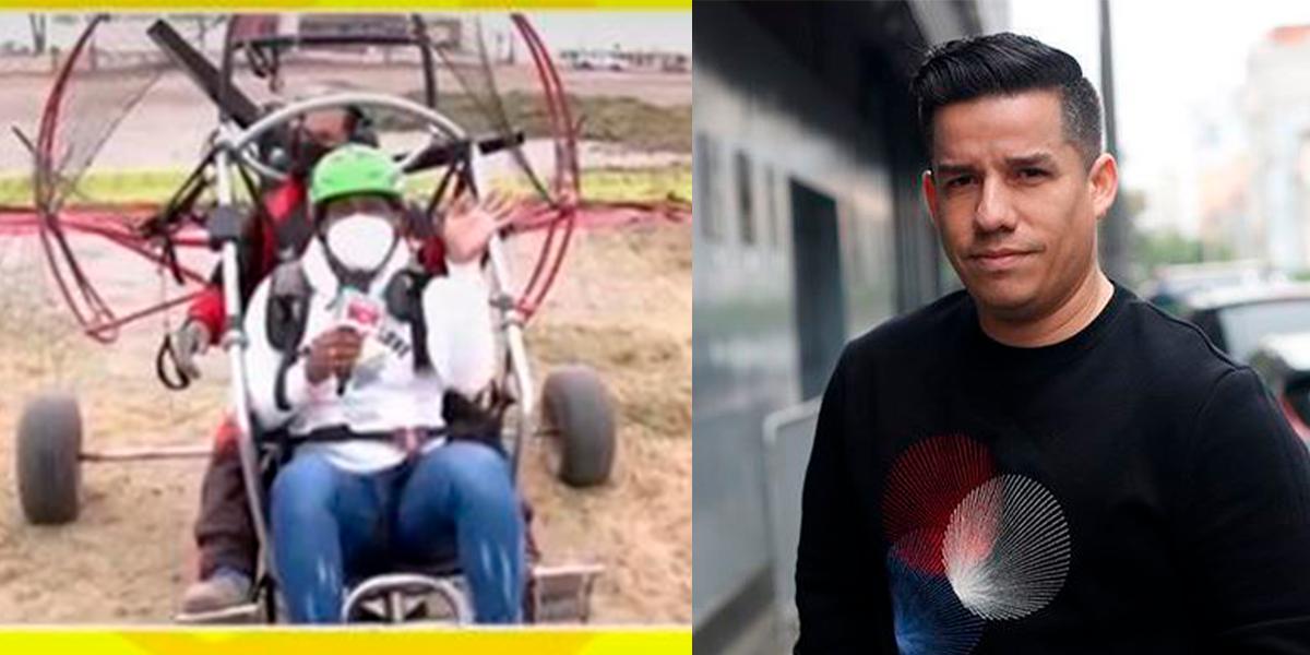 """Giselo teme volar en paratrike: """"Sálvame, Armando"""" [VIDEO]"""