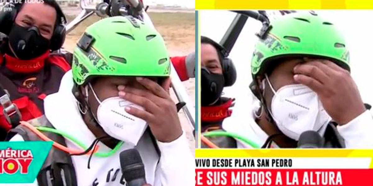 """Giselo se quiebra tras volar en paratrike: """"El próximo año va a subir el precio"""" [VIDEO]"""