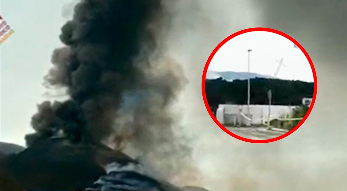 Volcán Cumbre Vieja invade grifo de combustible en la isla de La Palma