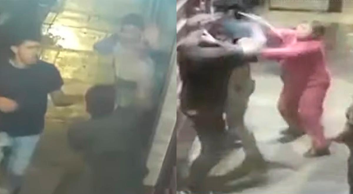 San Luis: Sujetos agreden con cuchillos y sin razón a un grupo de amigos [VIDEO]